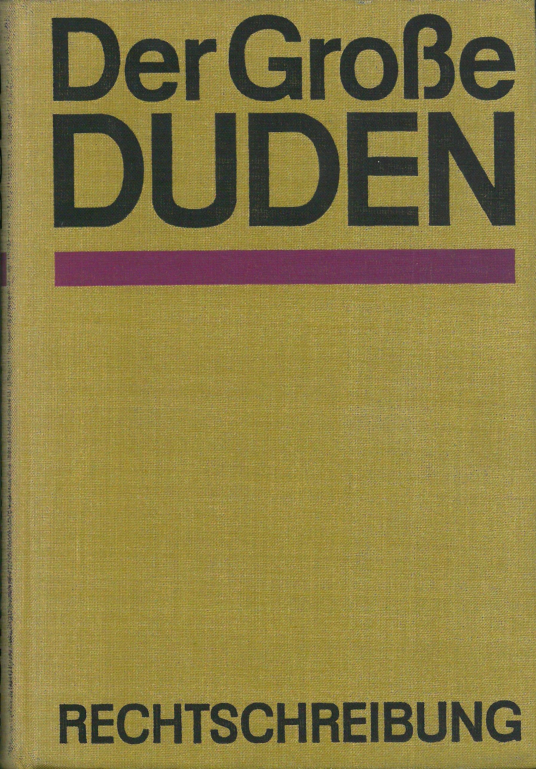 Buchcover Duden von 1967 DDR
