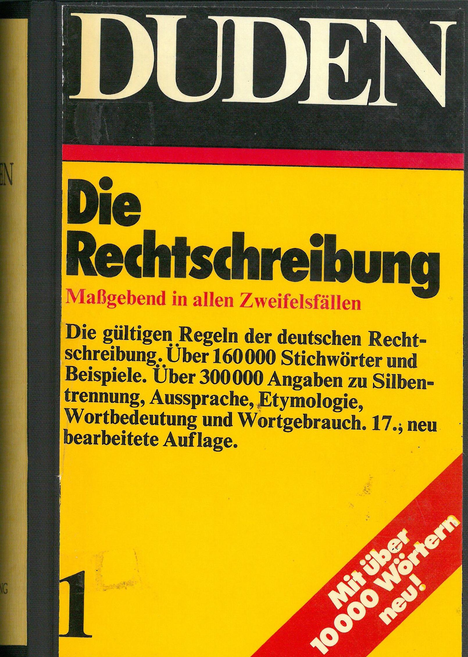 Buchcover Duden von 1973 BRD