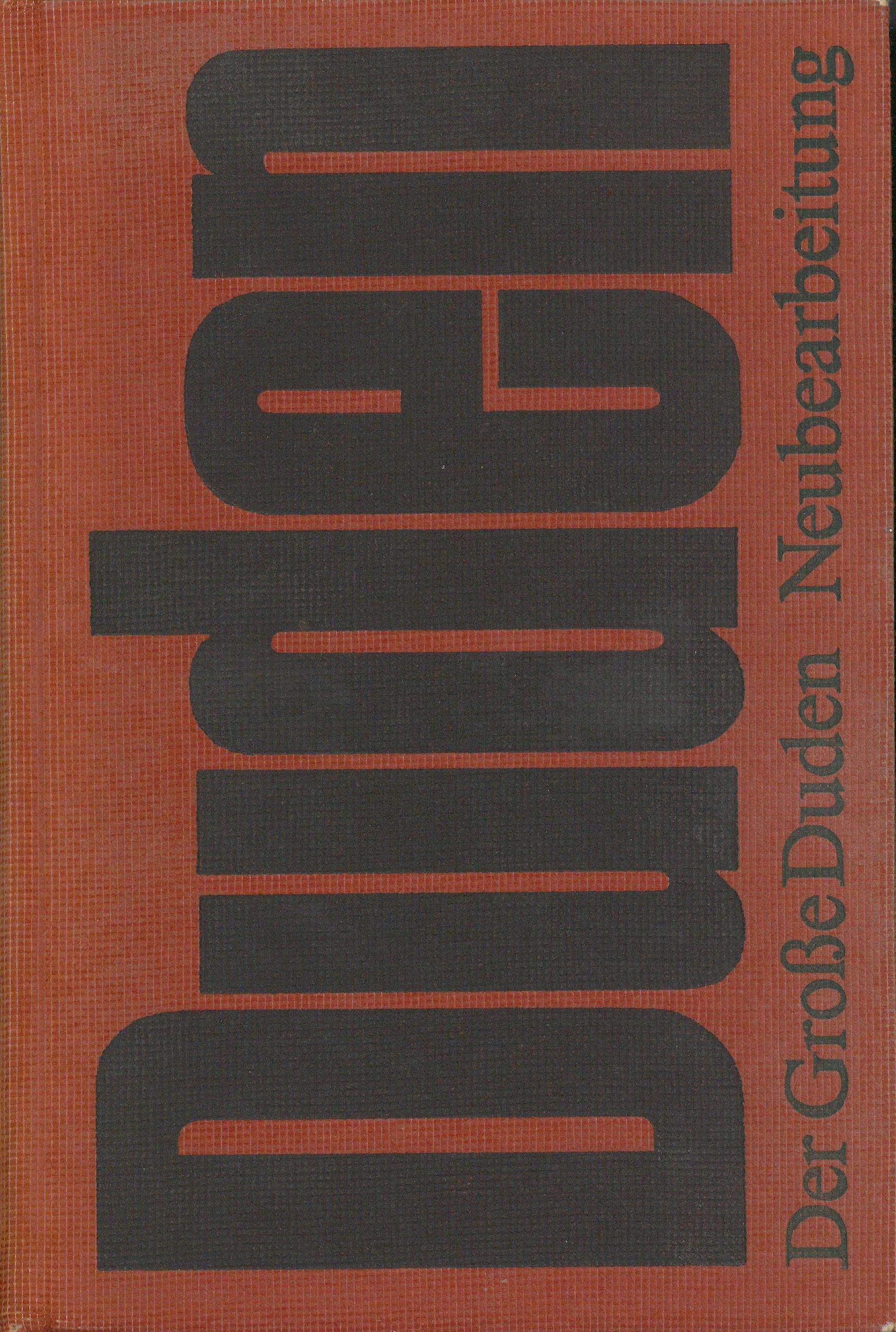 Buchcover Duden von 1976 DDR