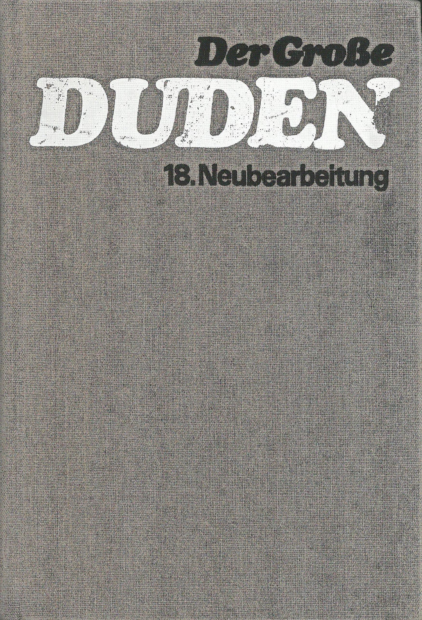 Buchcover Duden von 1985 DDR