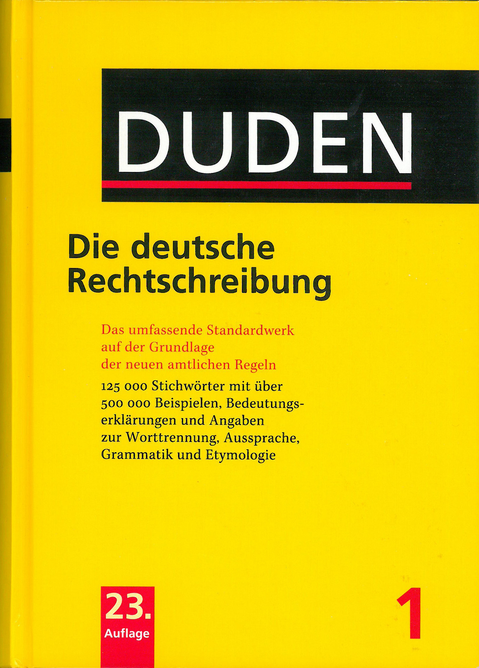 Buchcover Duden von 2004