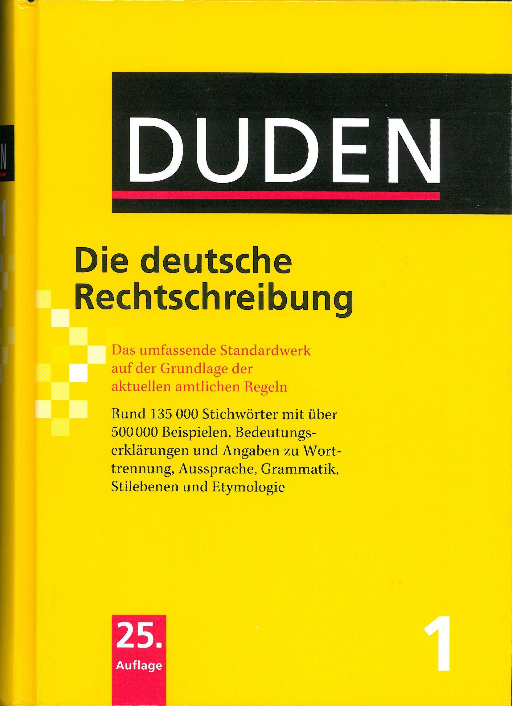 Buchcover Duden von 2009