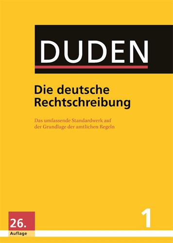 Buchcover Duden von 2013