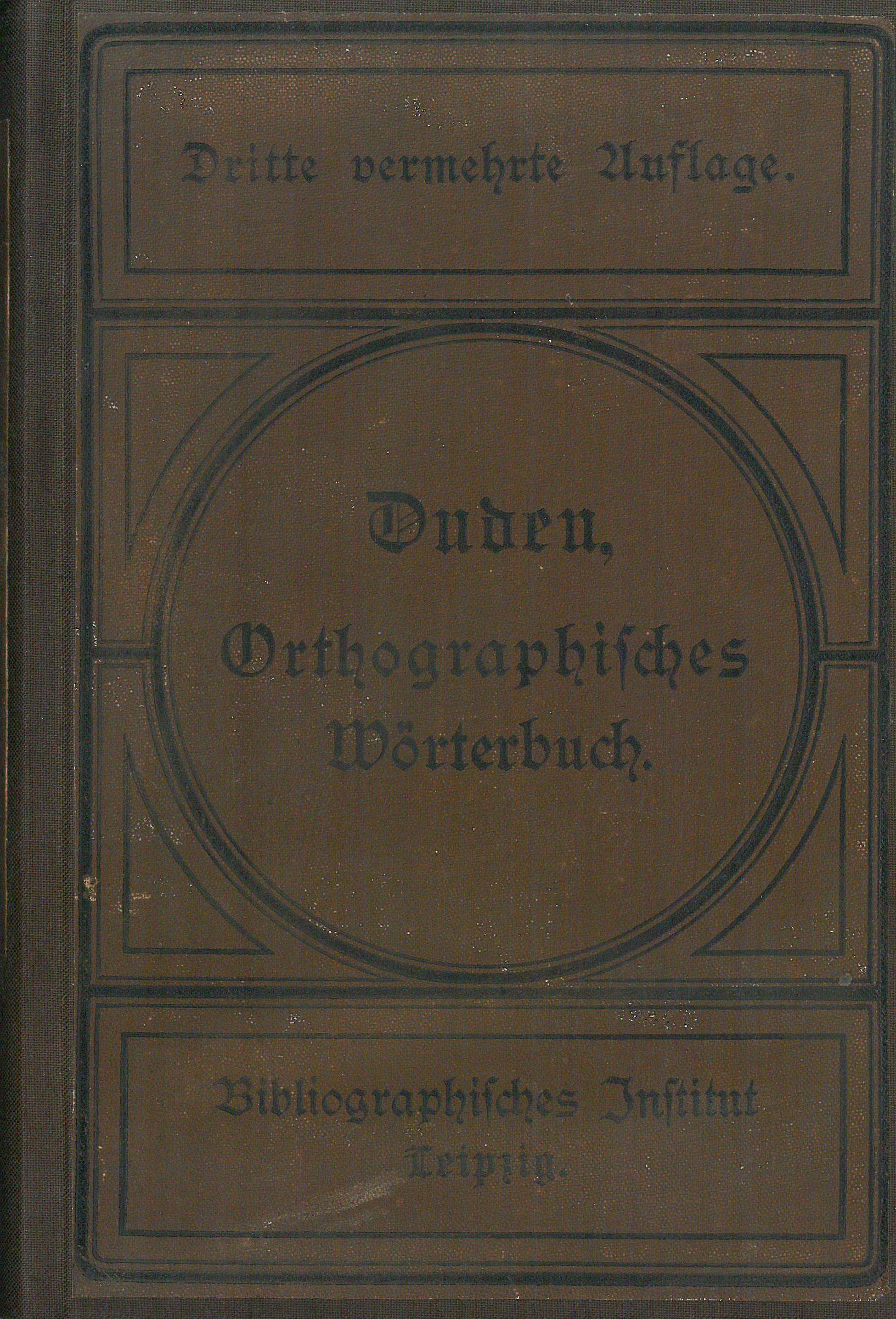 Buchcover Duden von 1887