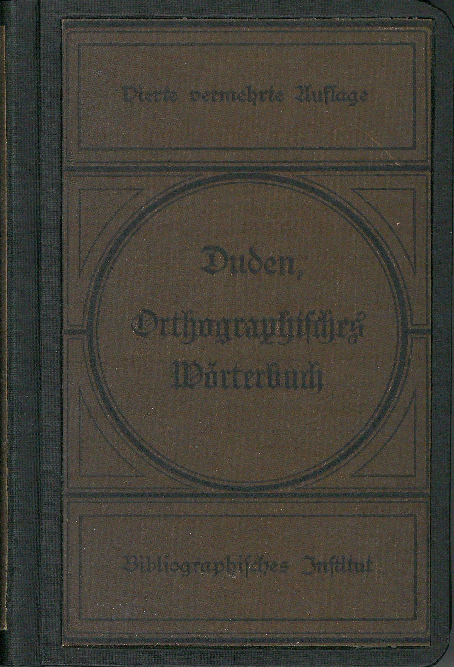 Buchcover Duden von 1893