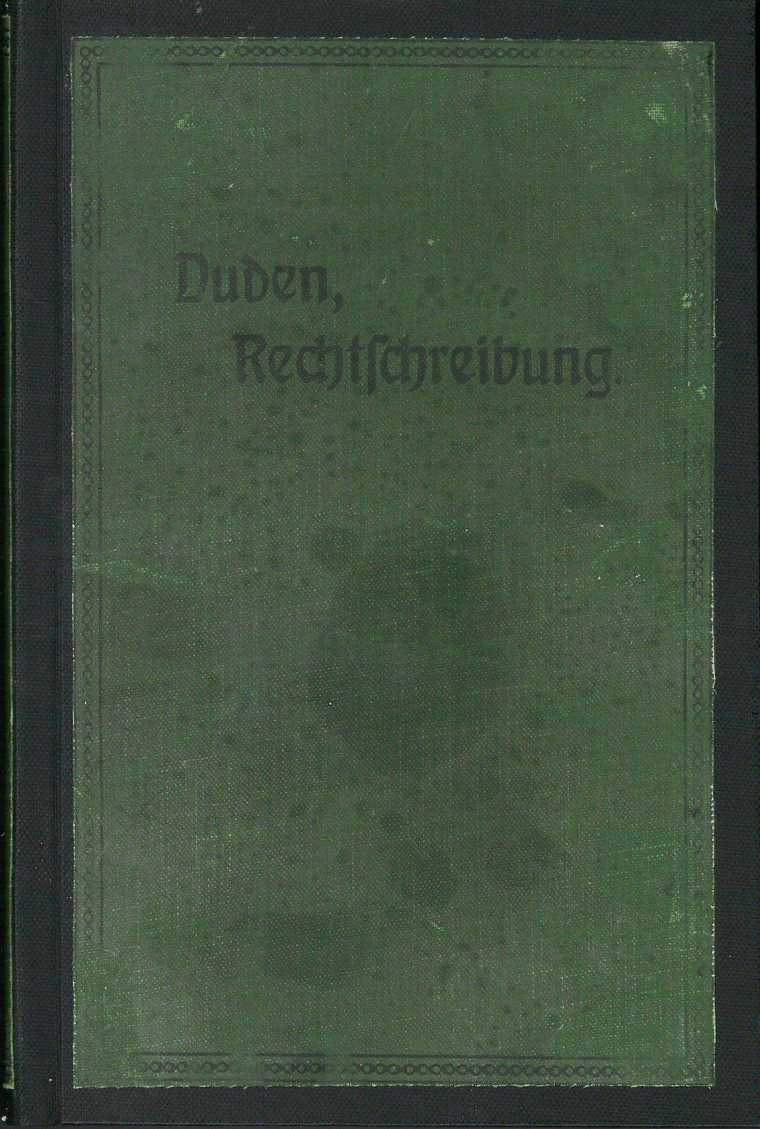 Buchcover Duden von 1905