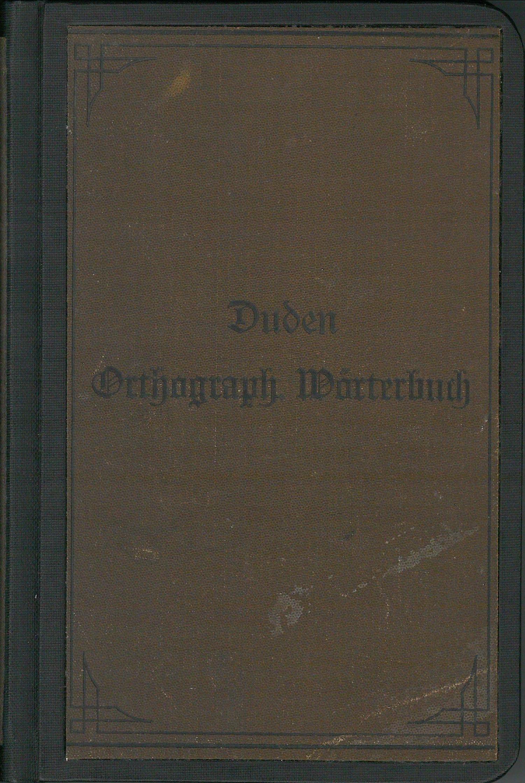 Buchcover Duden von 1897