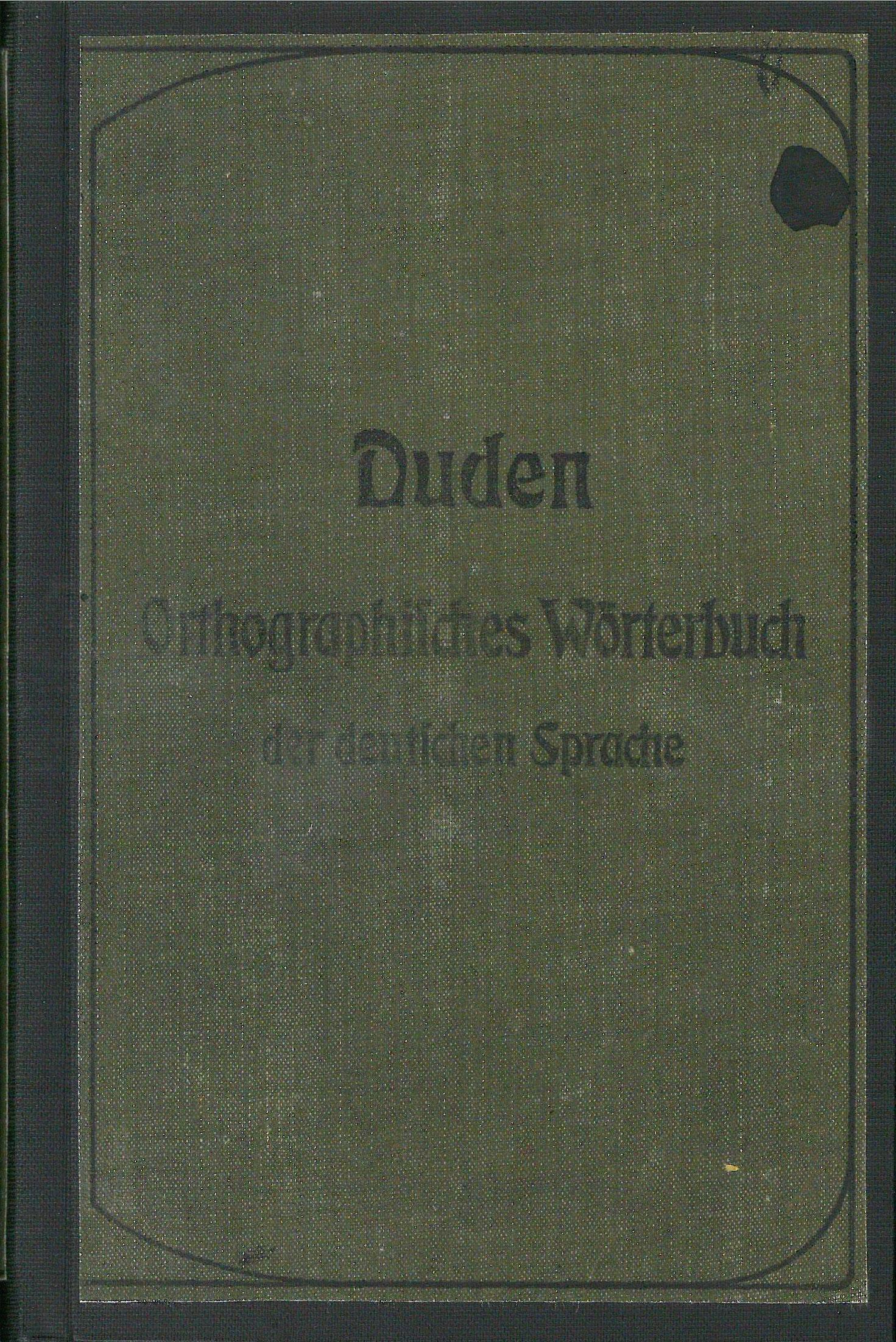 Buchcover Duden von 1902