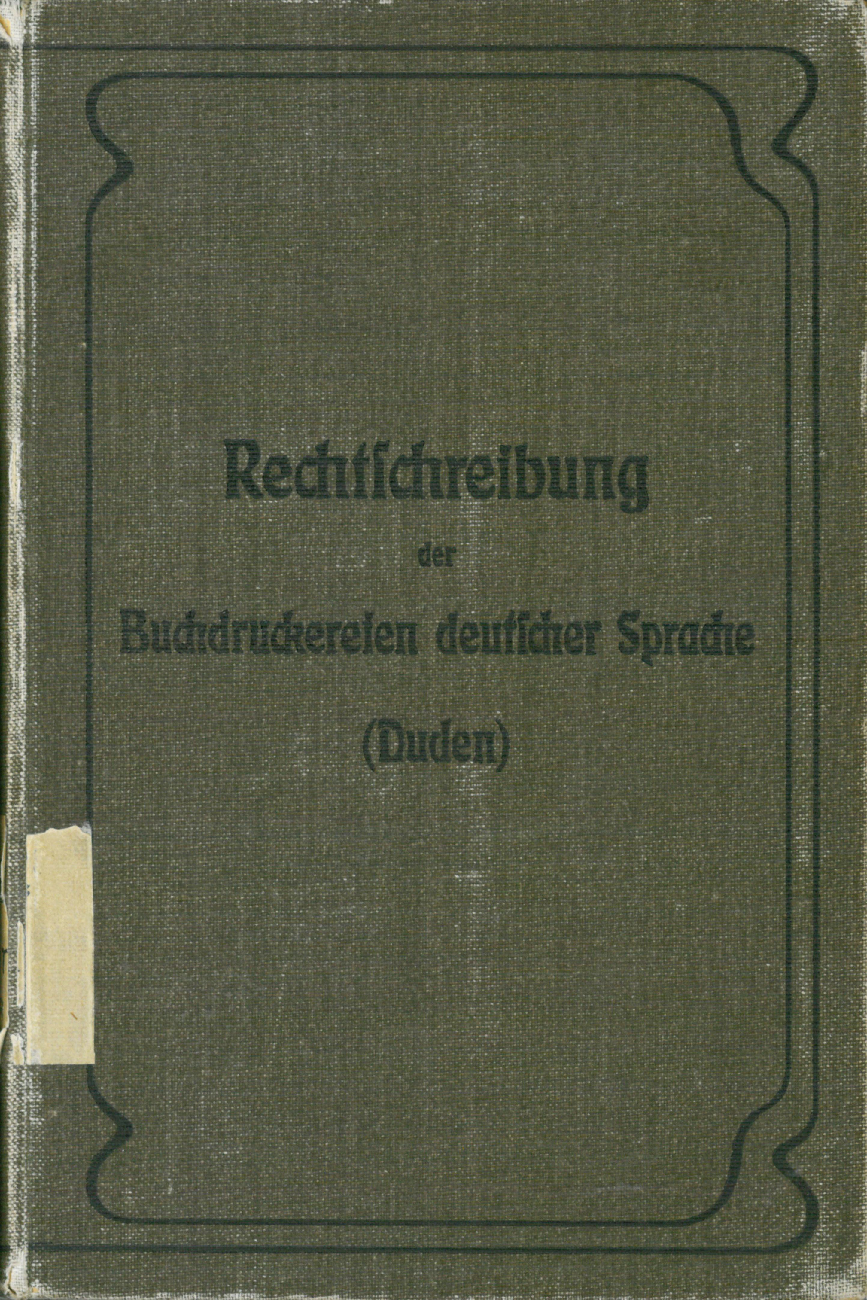 Buchcover Buchdruckerduden von 1903