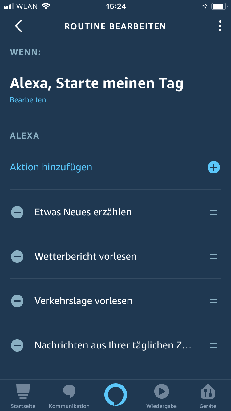 Wort des Tages – Amazon Alexa Skill als tägliche Routine mit App einstellen