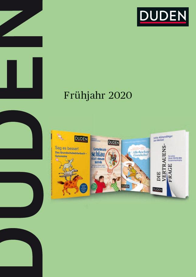 Cover: Programmvorschau Frühjahr 2020