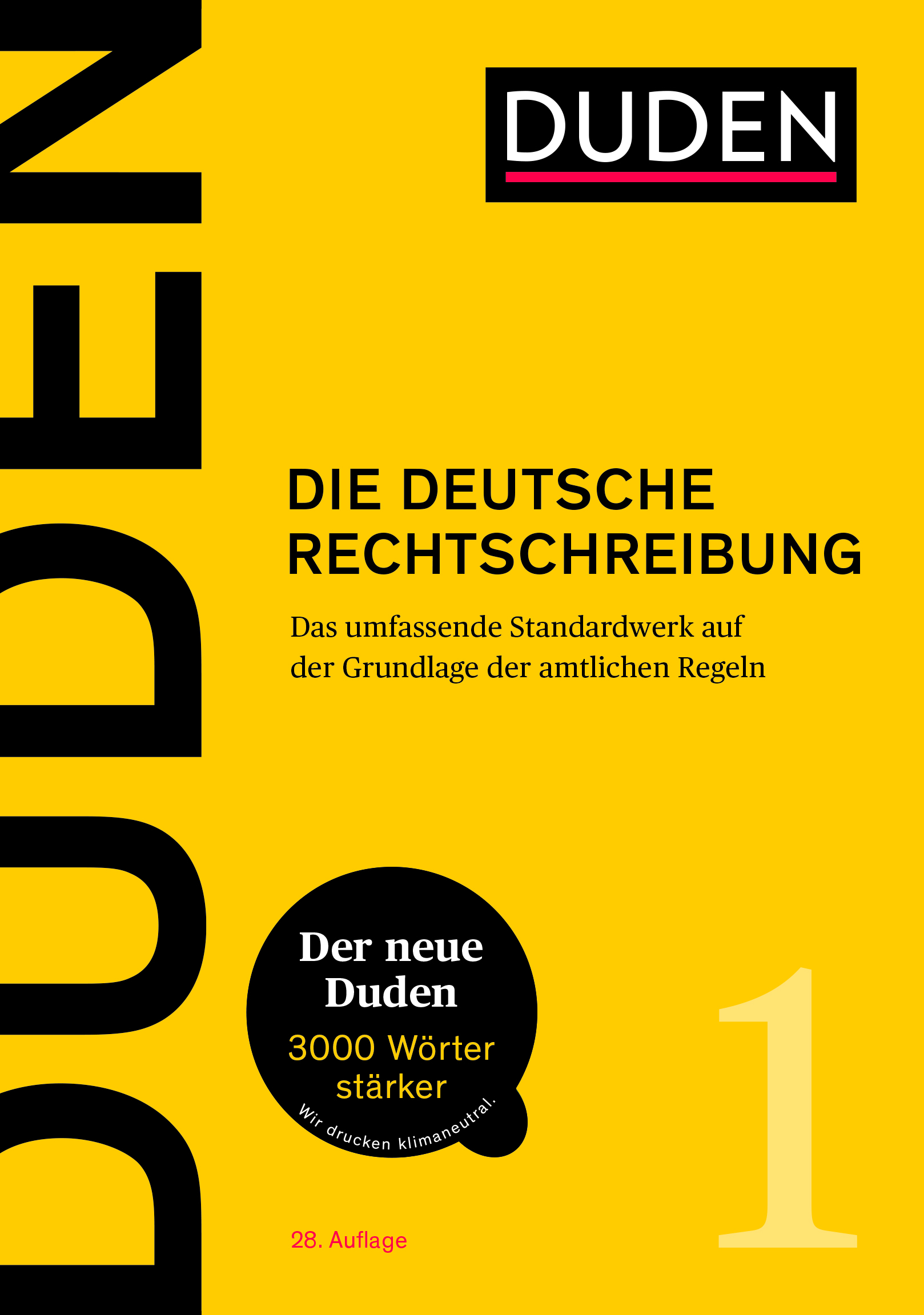 Buchcover: Die deutsche Rechtschreibung