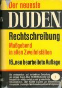 Buchcover Duden von 1967 BRD