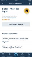 Wort des Tages – Amazon Alexa Skill mit der Alexa-App öffnen