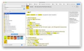 Screenshot: die Duden-Bibliothek unter macOS