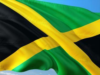 Die Flagge von Jamaika